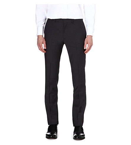 PS BY PAUL SMITH Wool-mohair trousers (Grey