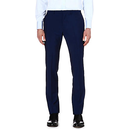 PS BY PAUL SMITH Wool-mohair trousers (Indigo