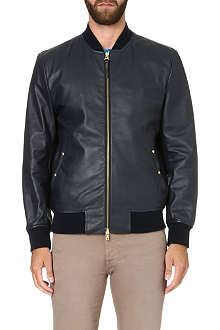PS BY PAUL SMITH Leather bomber jacket
