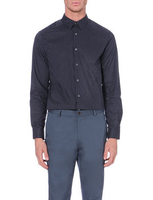 PS BY PAUL SMITH Mini square-print cotton shirt