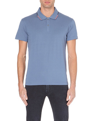 PS BY PAUL SMITH Contrast-trim cotton-piqué polo shirt