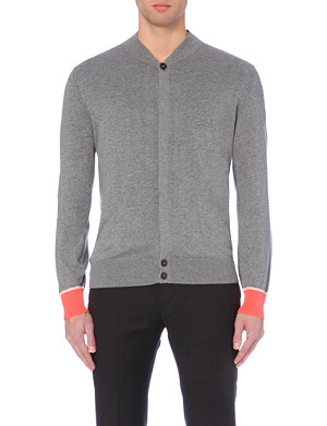 PS BY PAUL SMITH Colour-blocked cuff knitted cardigan