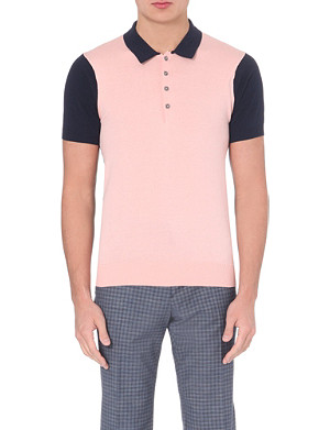 PS BY PAUL SMITH Colour-block cotton polo shirt