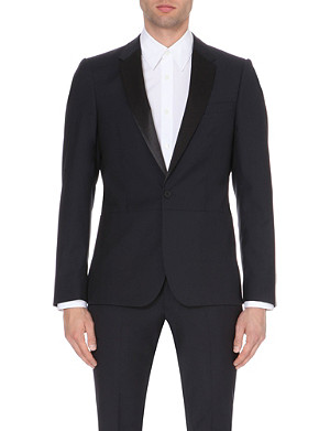 PS BY PAUL SMITH Satin-lapel wool and mohair-blend jacket