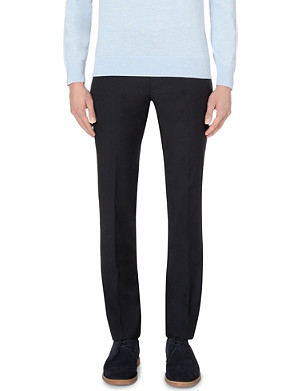 PS BY PAUL SMITH Slim-fit tapered wool and mohair-blend trousers