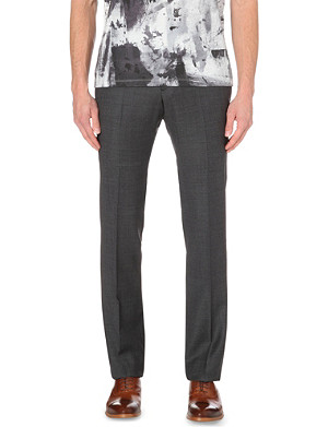 PS BY PAUL SMITH Basketweave slim-fit wool trousers