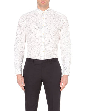 PS BY PAUL SMITH Printed slim-fit cotton shirt