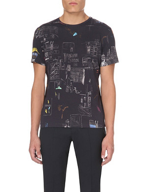 PS BY PAUL SMITH New York Scrapbook cotton t-shirt