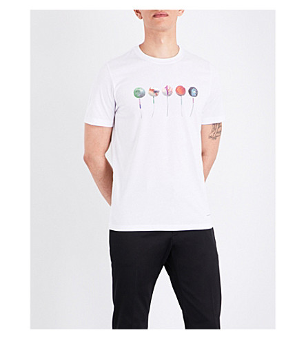 PS BY PAUL SMITH Lollipop-print cotton-jersey T-shirt (White