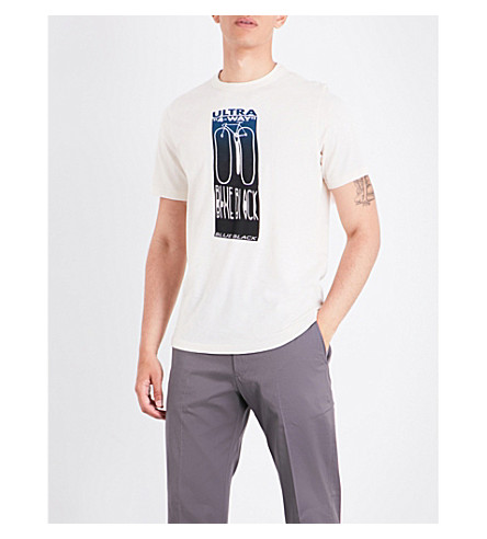 PS BY PAUL SMITH Ps ps blue black bike tee (White