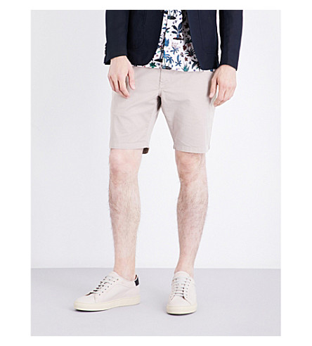 PS BY PAUL SMITH Regular-fit mid-rise stretch-cotton shorts (Beige
