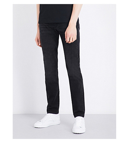 PS BY PAUL SMITH Whiskered slim-fit skinny jeans (Washed+black