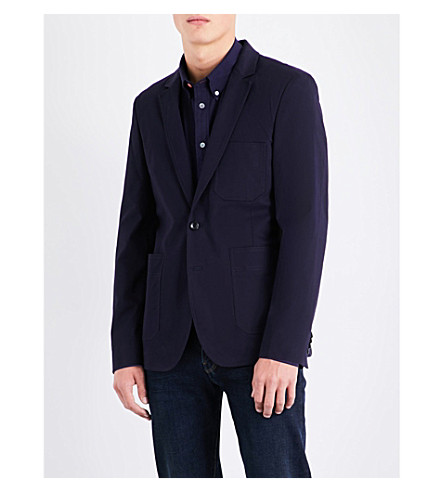 PS BY PAUL SMITH Medium-fit stretch-cotton chino jacket (Navy