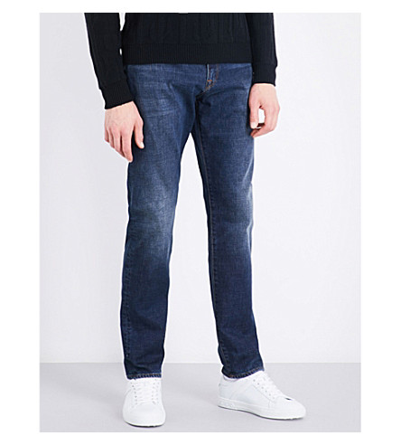 PS BY PAUL SMITH Faded regular-fit tapered jeans (Antique+blue