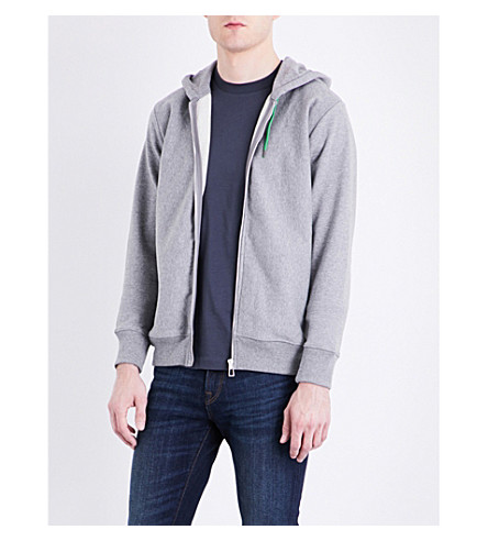 PS BY PAUL SMITH Zip-up cotton-jersey hoody (Grey