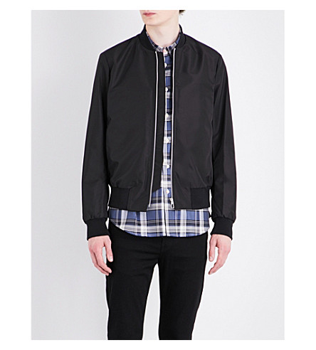 PS BY PAUL SMITH Stand-collar bomber jacket (Black