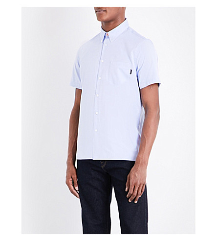 PS BY PAUL SMITH Casual-fit cotton shirt (Sky+blue