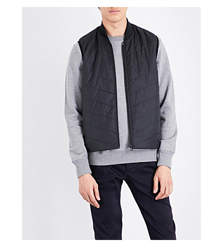 PS BY PAUL SMITH Stand-collar quilted vest (Black