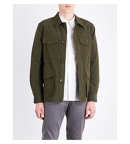 PS BY PAUL SMITH Collared shell field jacket (Khaki