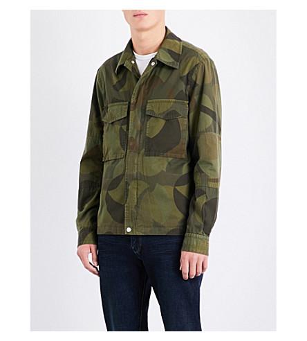 PS BY PAUL SMITH Camo-print cotton shirt jacket (Khaki