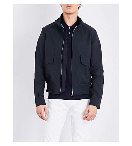 PS BY PAUL SMITH Harrington stand-collar shell jacket (Navy