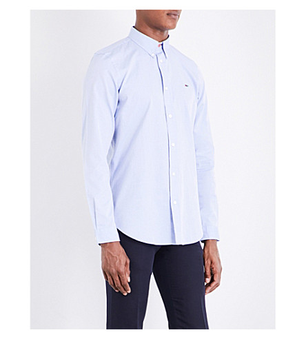 PS BY PAUL SMITH Tailored-fit cotton shirt (Sky+blue