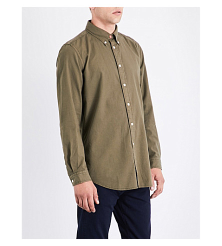 PS BY PAUL SMITH Tailored-fit cotton shirt (Khaki