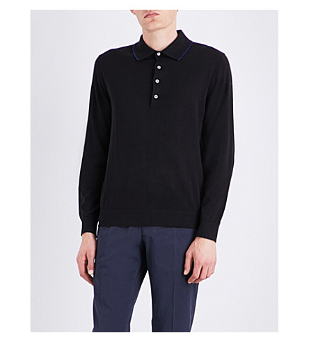PS BY PAUL SMITH Contrast-trim cotton polo shirt (Black