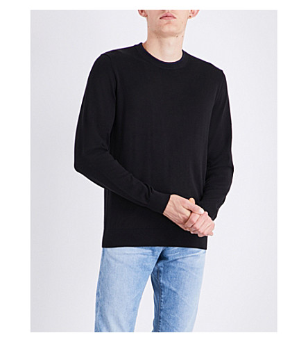 PS BY PAUL SMITH Logo-embroidered cotton jumper (Black