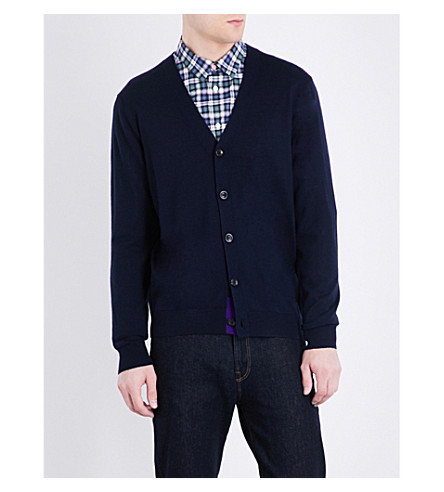 PS BY PAUL SMITH V-neck wool cardigan (Navy