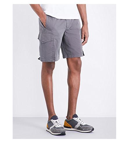 PS BY PAUL SMITH Cargo stretch-cotton shorts (Elephant+grey
