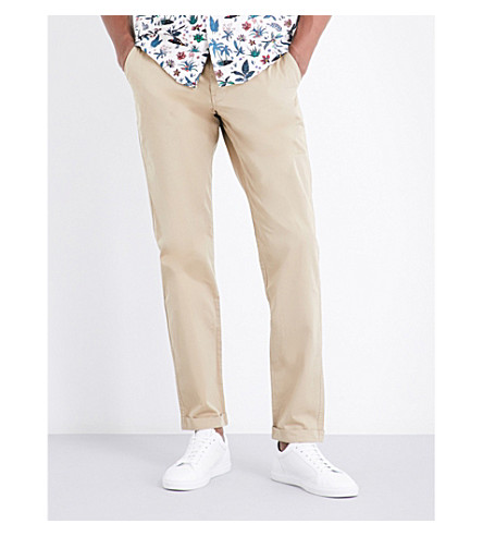 PS BY PAUL SMITH Regular-fit tapered stretch-cotton chinos (Beige