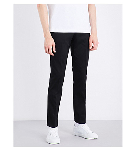 PS BY PAUL SMITH Slim-fit skinny stretch-cotton chinos (Black