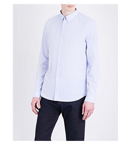 PS BY PAUL SMITH Spaceman slim-fit cotton shirt (Blue