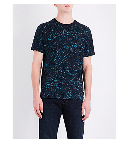 PS BY PAUL SMITH Firework cotton-jersey T-shirt (Navy