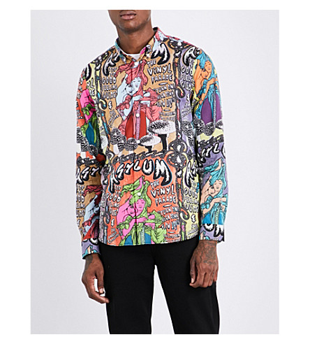 PS BY PAUL SMITH Graphic-pattern tailored-fit cotton shirt (97