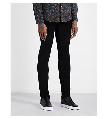 PS BY PAUL SMITH Slim-fit skinny corduroy stretch-cotton jeans (Black