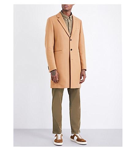 PS BY PAUL SMITH Epsom peak-lapel wool-blend coat (Camel