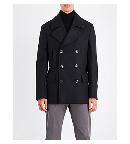 PS BY PAUL SMITH Double-breasted wool peacoat (Navy