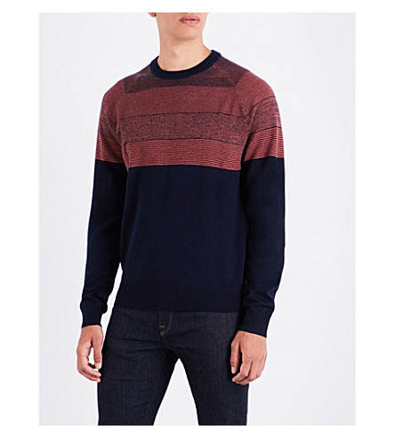 PS BY PAUL SMITH Striped wool jumper (Navy