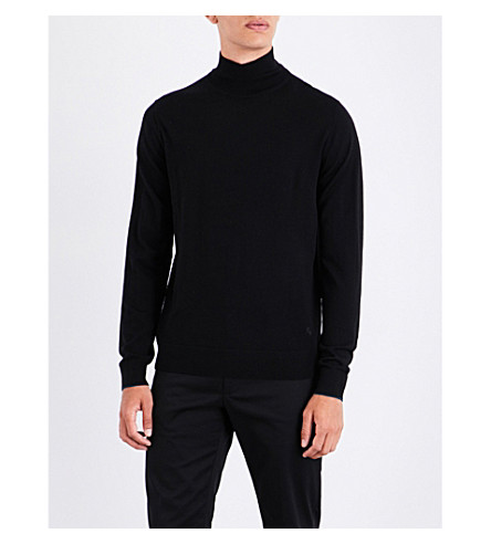 PS BY PAUL SMITH Turtleneck wool jumper (Black