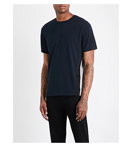 PS BY PAUL SMITH Side-panels cotton-jersey T-shirt (Navy