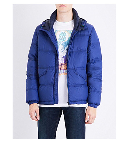 PS BY PAUL SMITH Quilted down and feather-blend jacket (Blue