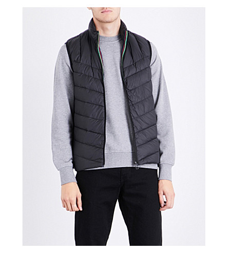 PS BY PAUL SMITH Quilted down and feather-blend gilet (Black