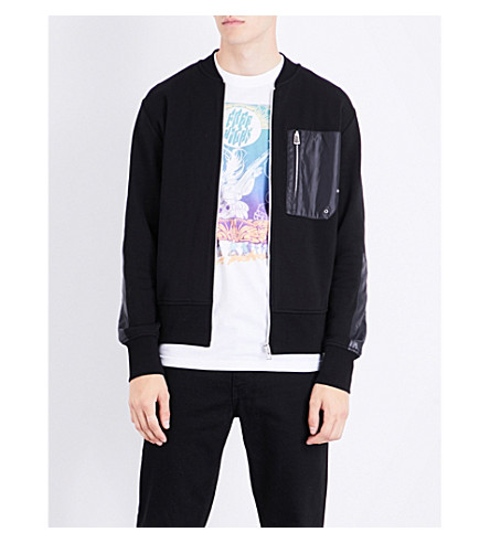 PS BY PAUL SMITH Patch-detail cotton jacket (Black