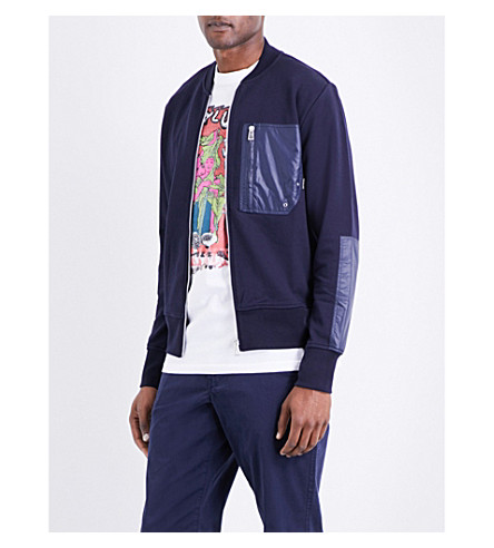 PS BY PAUL SMITH Patch-detail cotton jacket (Navy