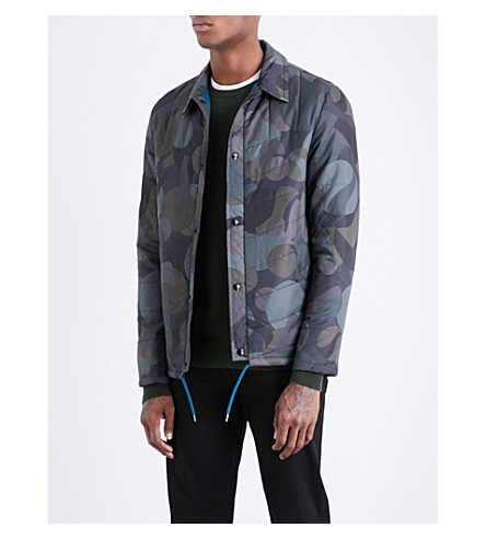 PS BY PAUL SMITH Camouflage-patterned shell overshirt (Camo