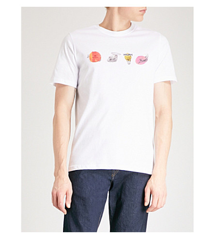 PS BY PAUL SMITH Skull Line cotton-jersey T-shirt (White