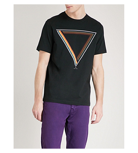 PS BY PAUL SMITH Prism printed cotton-jersey T-shirt (Black