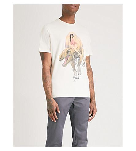 PS BY PAUL SMITH Dino-print cotton-jersey T-shirt (Ecru